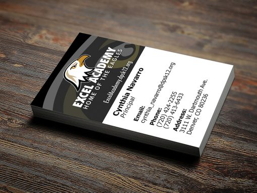 Excel Academy Business Card