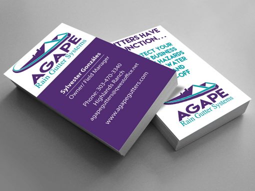 Agape Gutter Systems Business Card